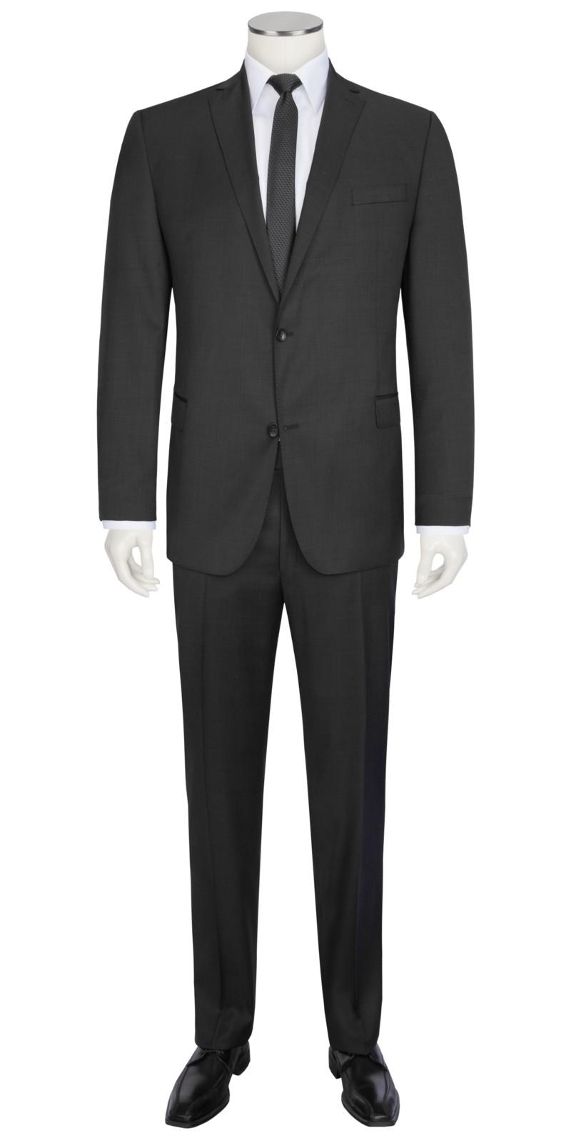 carl gross smarter anzug mit dezenter struktur schwarz. Black Bedroom Furniture Sets. Home Design Ideas
