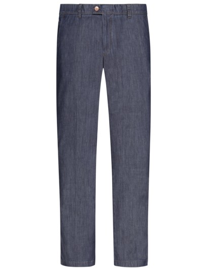 Leichte Denim-Chino im Washed-Look in BLAU-GRAU
