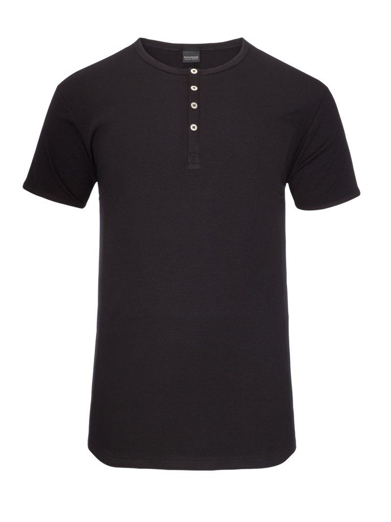 schiesser serafino shirt schwarz herrenmode in bergr en. Black Bedroom Furniture Sets. Home Design Ideas