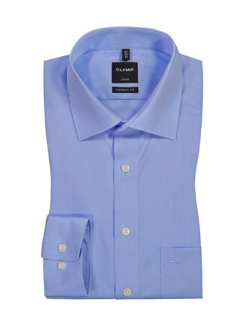olymp luxor modern fit hemd extra kurzer arm blau. Black Bedroom Furniture Sets. Home Design Ideas
