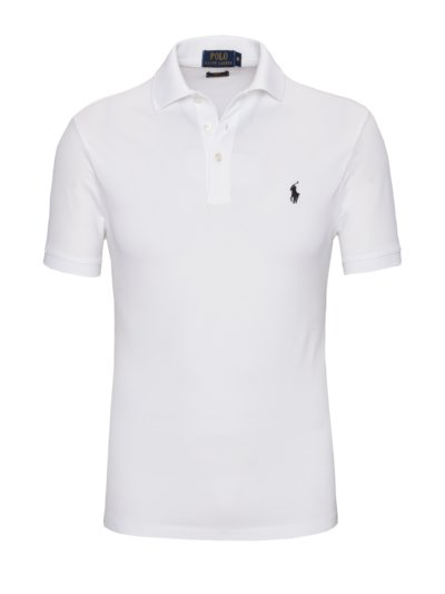 Pima Cotton Slim Fit Poloshirt in WEISS