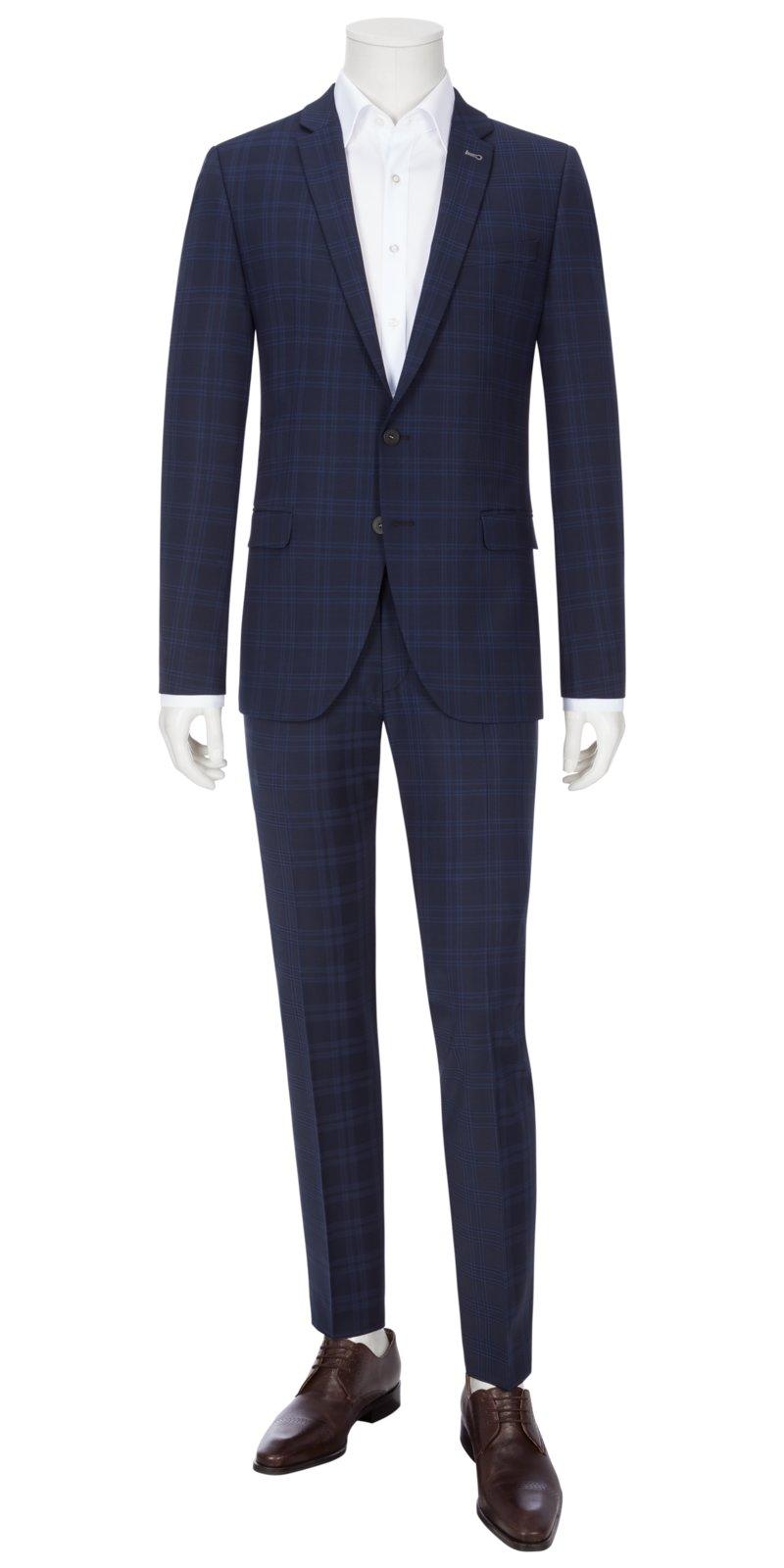 anzug slim fit roy robson slim fit anzug in schwarz ebay. Black Bedroom Furniture Sets. Home Design Ideas