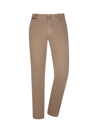 Baumwollhose, New York, Slim Fit in BEIGE
