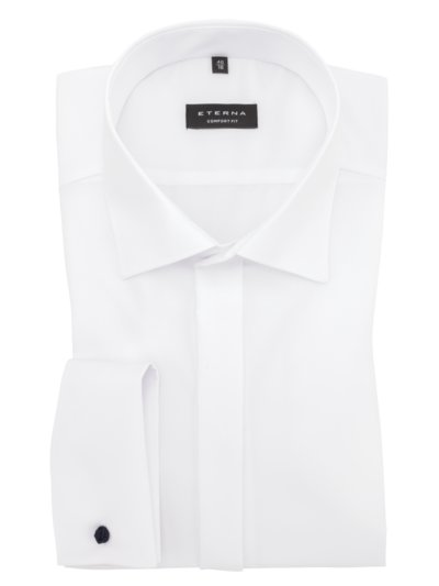 Dress shirt with braided cufflinks v WHITE