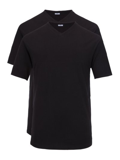 Doppelpack T-Shirts, EXTRALANG in SCHWARZ