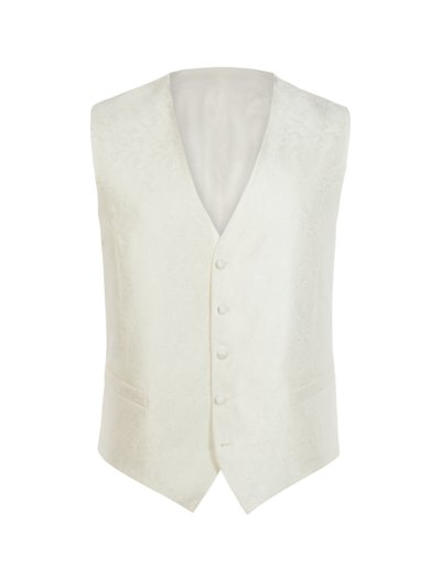 Dinner waistcoat with luxurious paisley embroidery v OFF WHITE