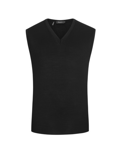 High-quality merino sweater vest v BLACK