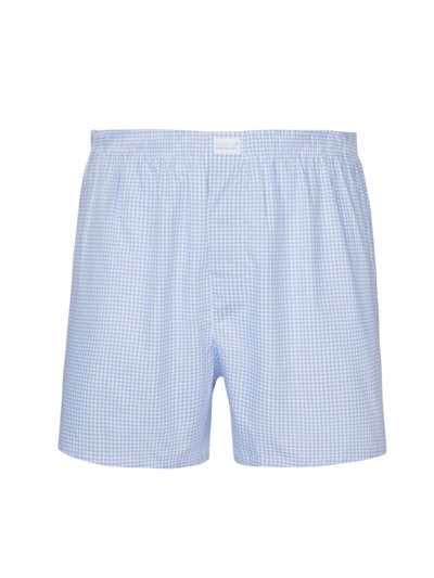 High-quality boxer shorts, checked v BLUE