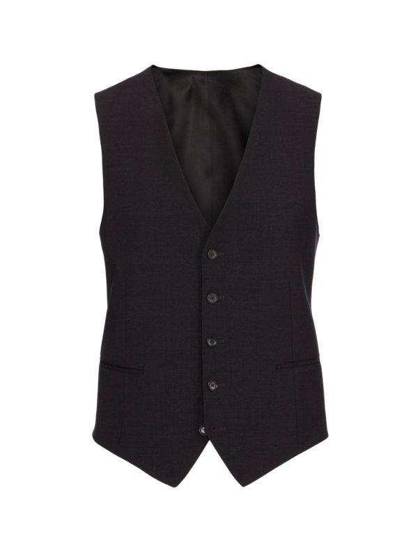 0c9f70b61cf Eduard Dressler Luxusní večerní vesta antracit – Pánská móda v nadměrné  velikosti