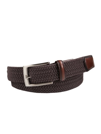 Stretchy braided belt v BROWN