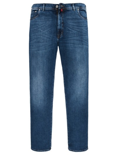 5-Pocket Jeans im Washed-Look in HELLBLAU