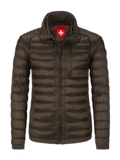 Wind and water repellent quilted jacket 'Molecule Men' v OLIVE-