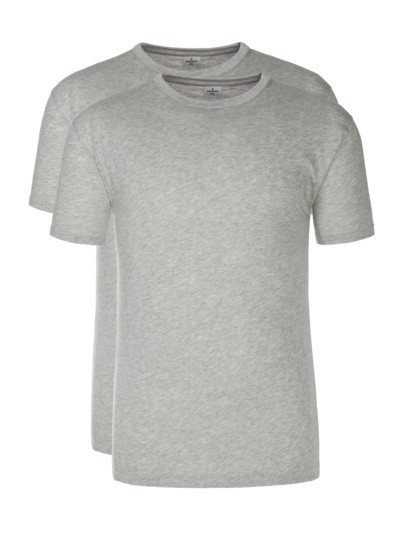 T-shirt 'double pack' v GREY