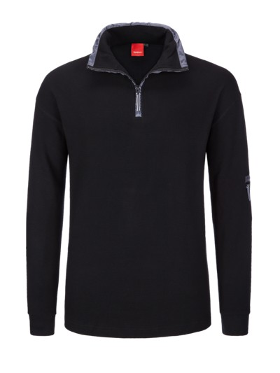 Jogging-Sweatshirt in SCHWARZ