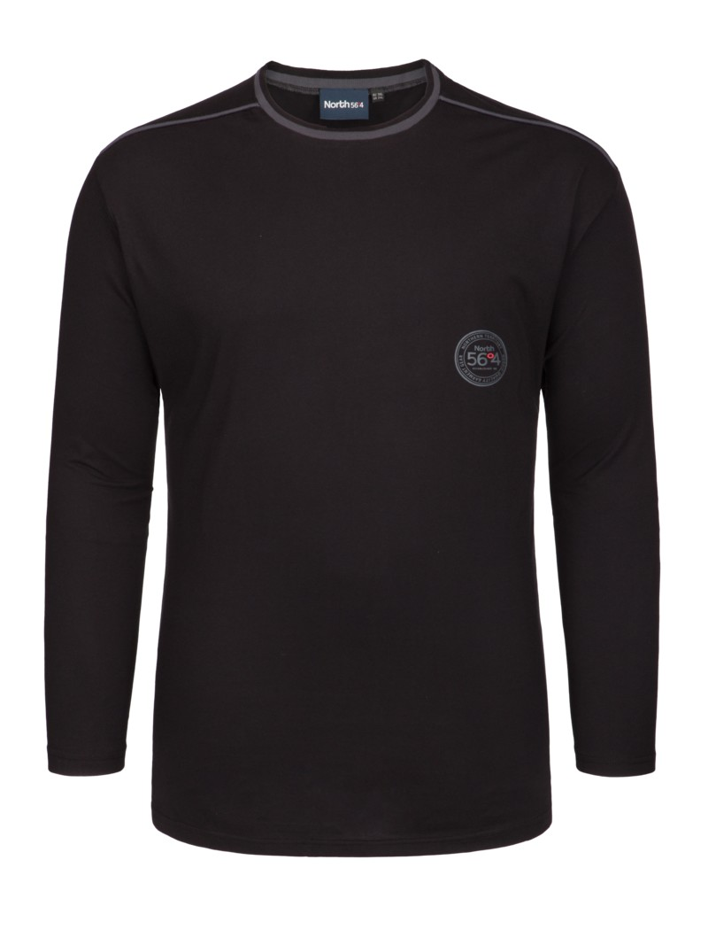 630605b8b29ac4 North 56°4 Langarm-Schlafshirt aus Baumwolle schwarz – Herrenmode in ...