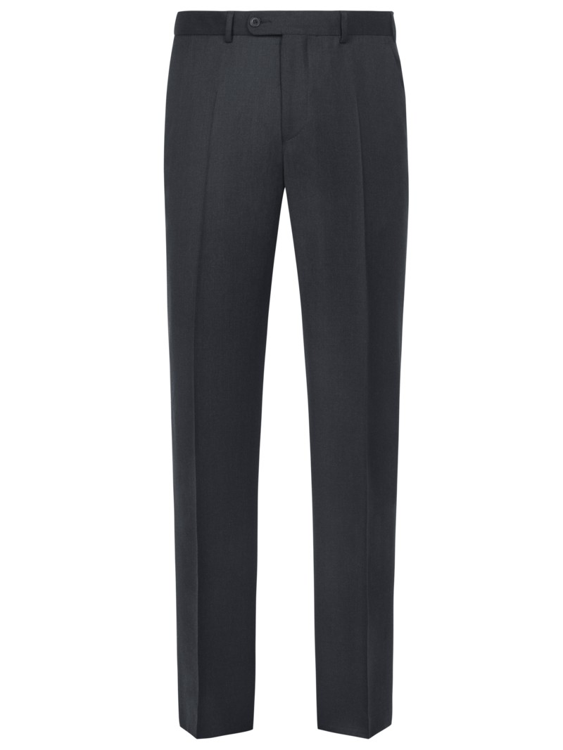 Tom Rusborg Formal pants (mix & match suit separates) in a lightweight virgin wool quality ANTHRACITE in plus size