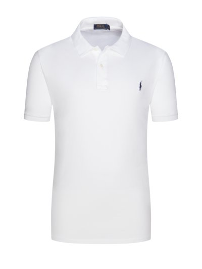 100% pique cotton polo shirt v WHITE