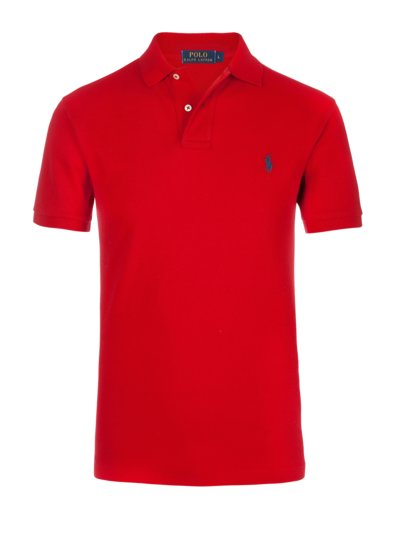 100% pique cotton polo shirt v RED