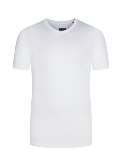 Pure cotton T-shirt v WHITE