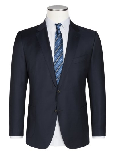Stylish, 100% virgin wool blazer v MARINE