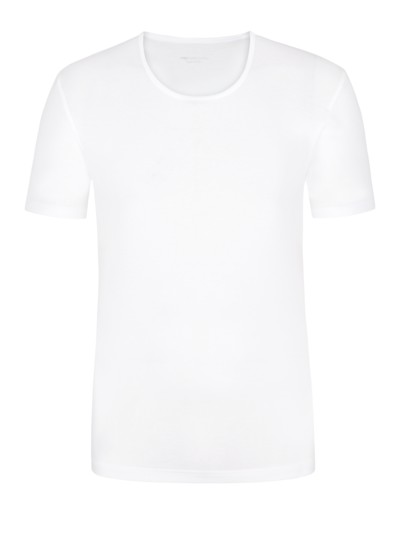 T-Shirt, Cotton in WEISS