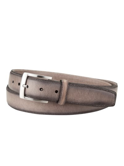 Vintage look belt v GREY