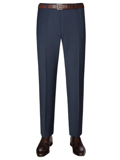 Joop! Cotton blend business pants with stretch aspect BLUE in plus size