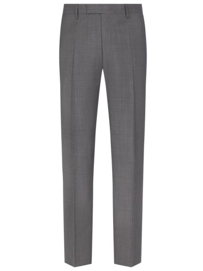 Formal pants made of a virgin wool blend v GREY