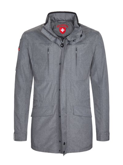 Casual jacket with a concealed hood, golf jacket v GREY