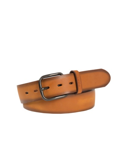 Vintage look belt v COGNAC