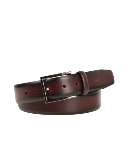 Belt with blackened metal pin buckle v BORDEAUX