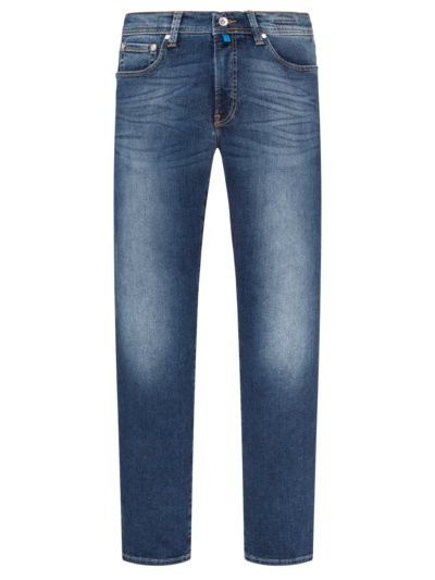 Jeans im Used-Look, Futureflex in BLAU