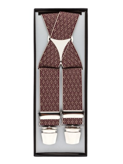 Suspenders with a micro pattern v BORDEAUX