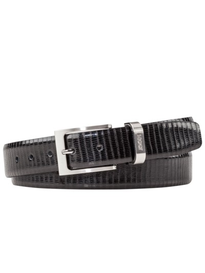 Belt with fashionably grained surface v BLACK