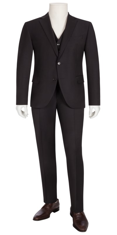 Wool blend mix & match suit v BLACK