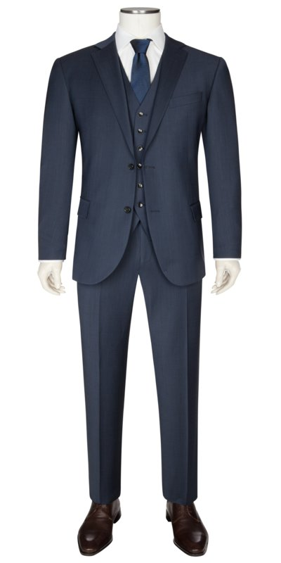Mix & match suit separates with gilet v BLUE