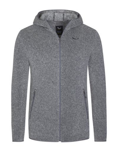 Wool hoodie with hood v GREY