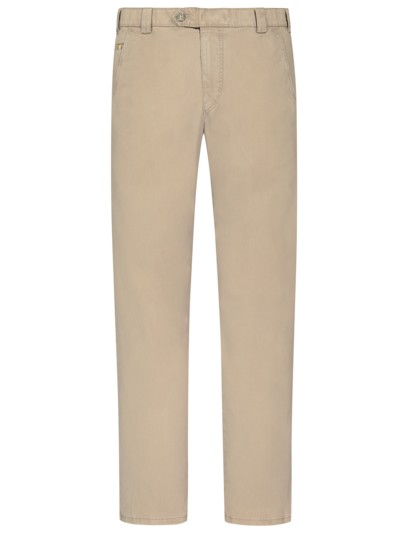 Leichte, washed Baumwollstretch-Chino ,Roma' mit dezenter Struktur in BEIGE