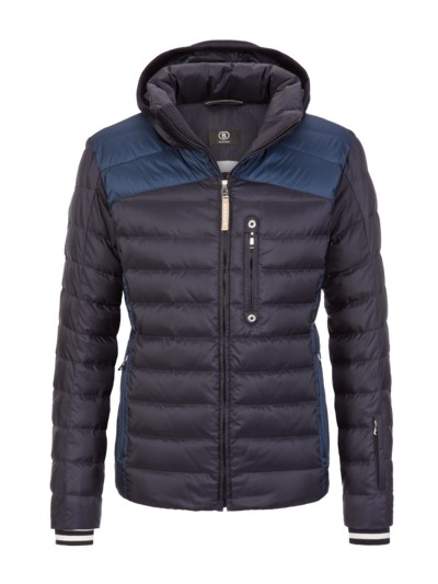 Ski jacket in a quilted look v BLUE