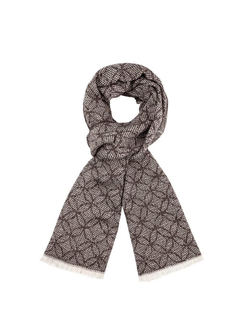 Dante Fashionable scarf BROWN in plus size