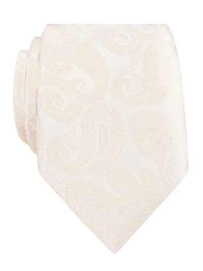 Krawatte mit Paisley-Muster in OFFWHITE