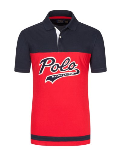 Fashionable polo shirt v RED