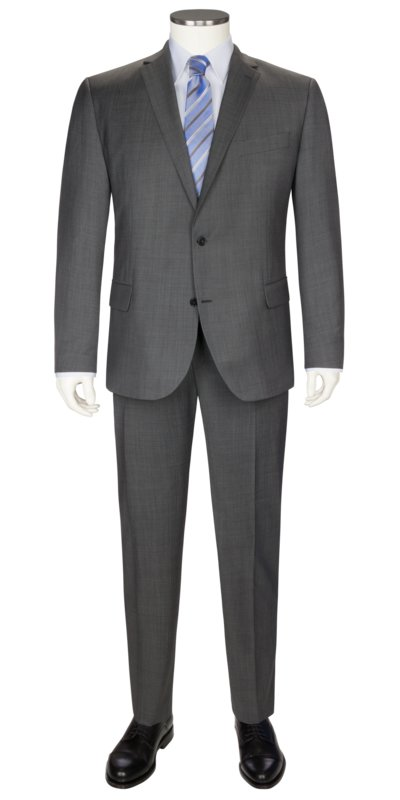 Virgin wool blend mix & match suit v GREY