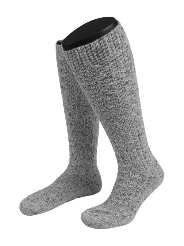 c4b4c48eb14 Lusana Krojové podkolenky šedá – Pánská móda v nadměrné velikosti