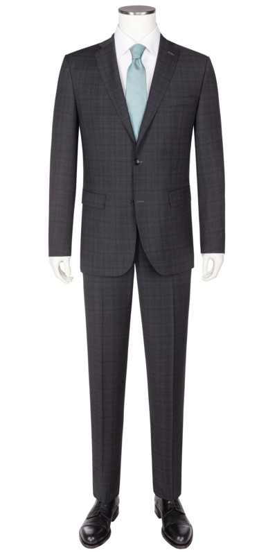 Formal suit with glen check pattern v ANTHRACITE