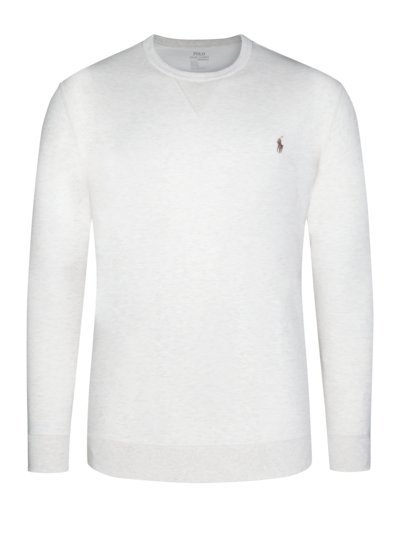 Sweatshirt im Baumwollmix, Performance in BEIGE