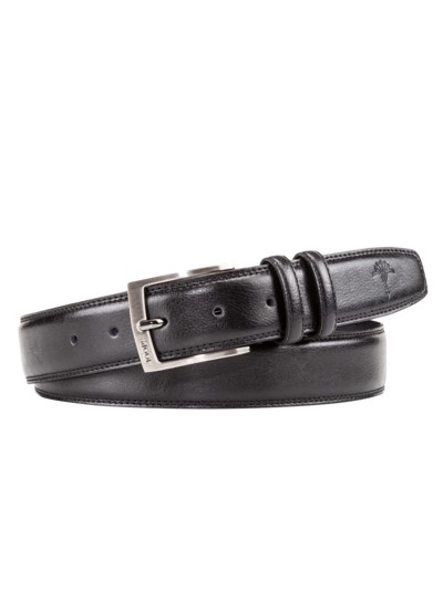 Belt with double loop v BLACK