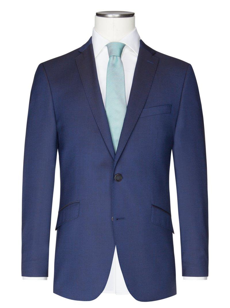 Übergröße : Digel, Sakko aus 100% Schurwolle, Ragna in Blau für Herren Pretty Long (DE)