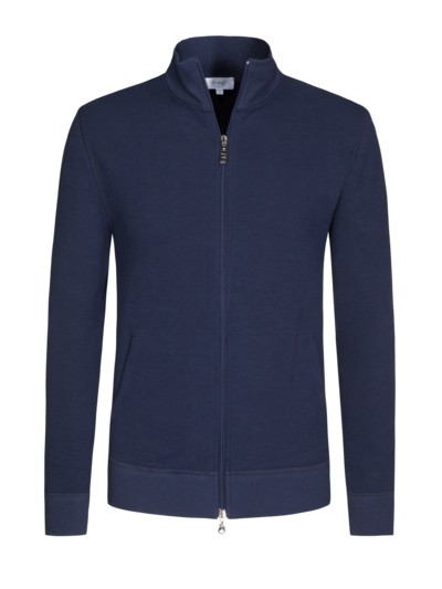 Softe Sweatjacke in MARINE