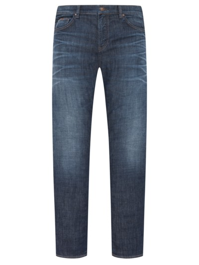 Jeans im Used-Look, C-Maine1 in BLAU